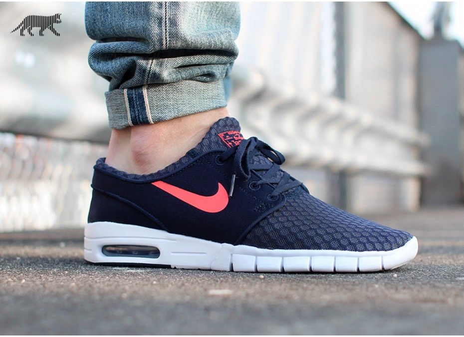 Nike SB Janoski Max L Shoes Wolf Grey White Cool Grey Hot Lava (016)