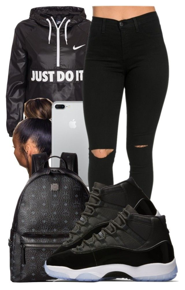 This basic by guwapshawty ❤ liked on Polyvore featuring NIKE and MCM.  outfits Jordan Outfits For Girls 004f7dbd2