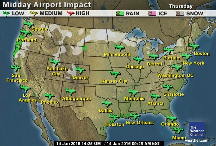 Airport Delays Map weathercom weather delays for travel