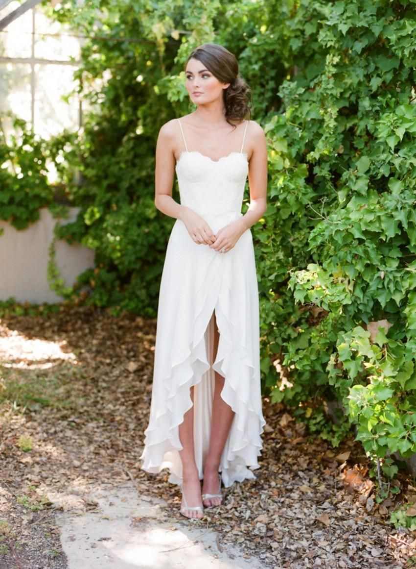 Image result for bridal gown high low wedding stuff pinterest