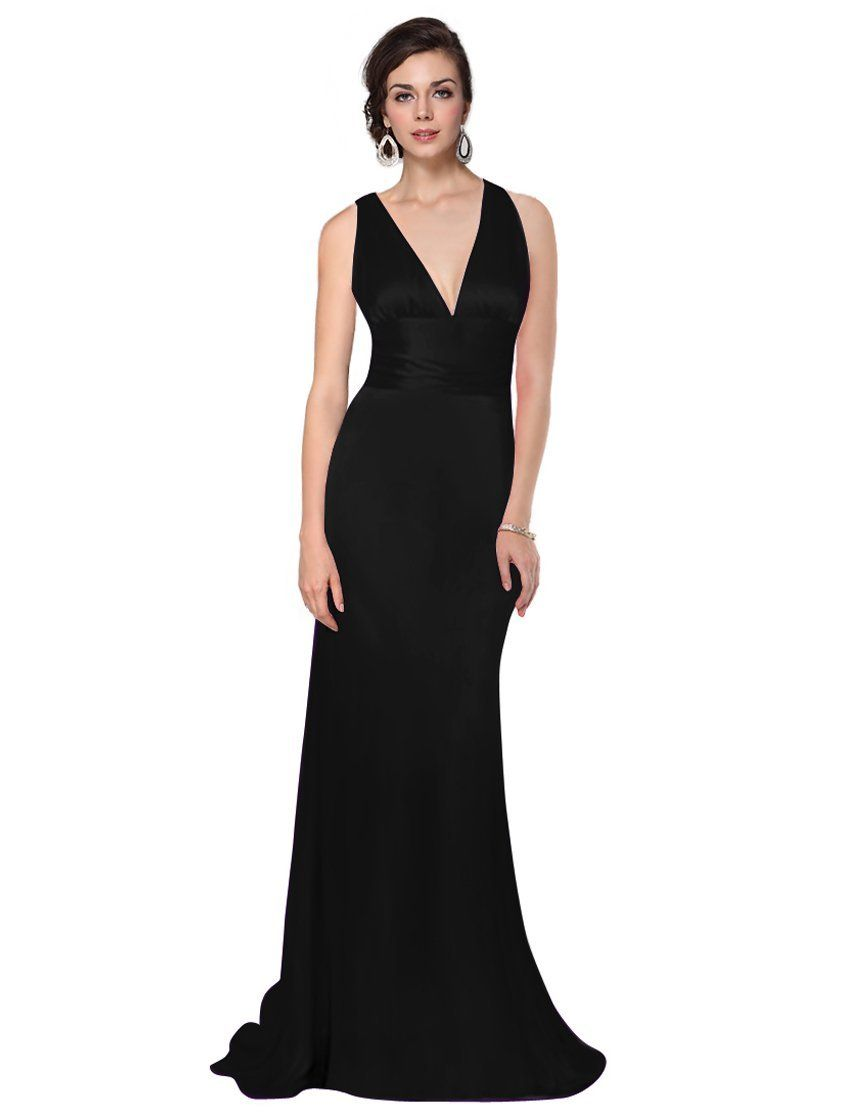 Long black bridesmaid dresses canada