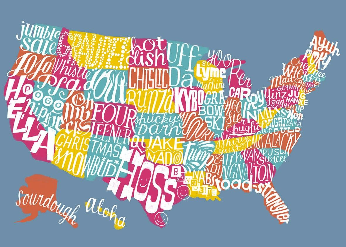 If Every State Had An Official Word What Would It Be Illinois - Us word map illionis