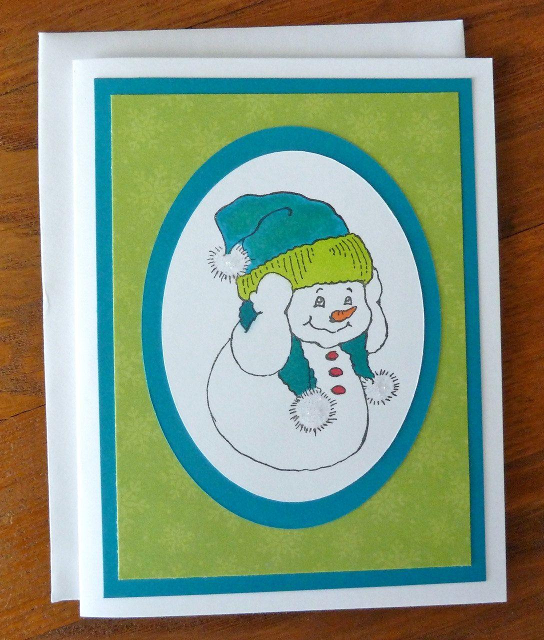 Winter greeting card handmade snowman card cute winter card winter greeting card handmade snowman card cute winter card winter birthday card kristyandbryce Images
