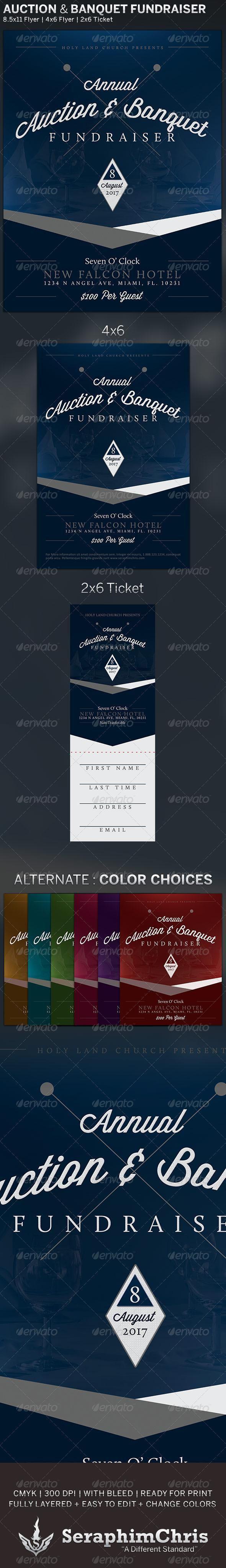 auction banquet fundraiser flyer template flyer flyerdesign print church bestdesignresources