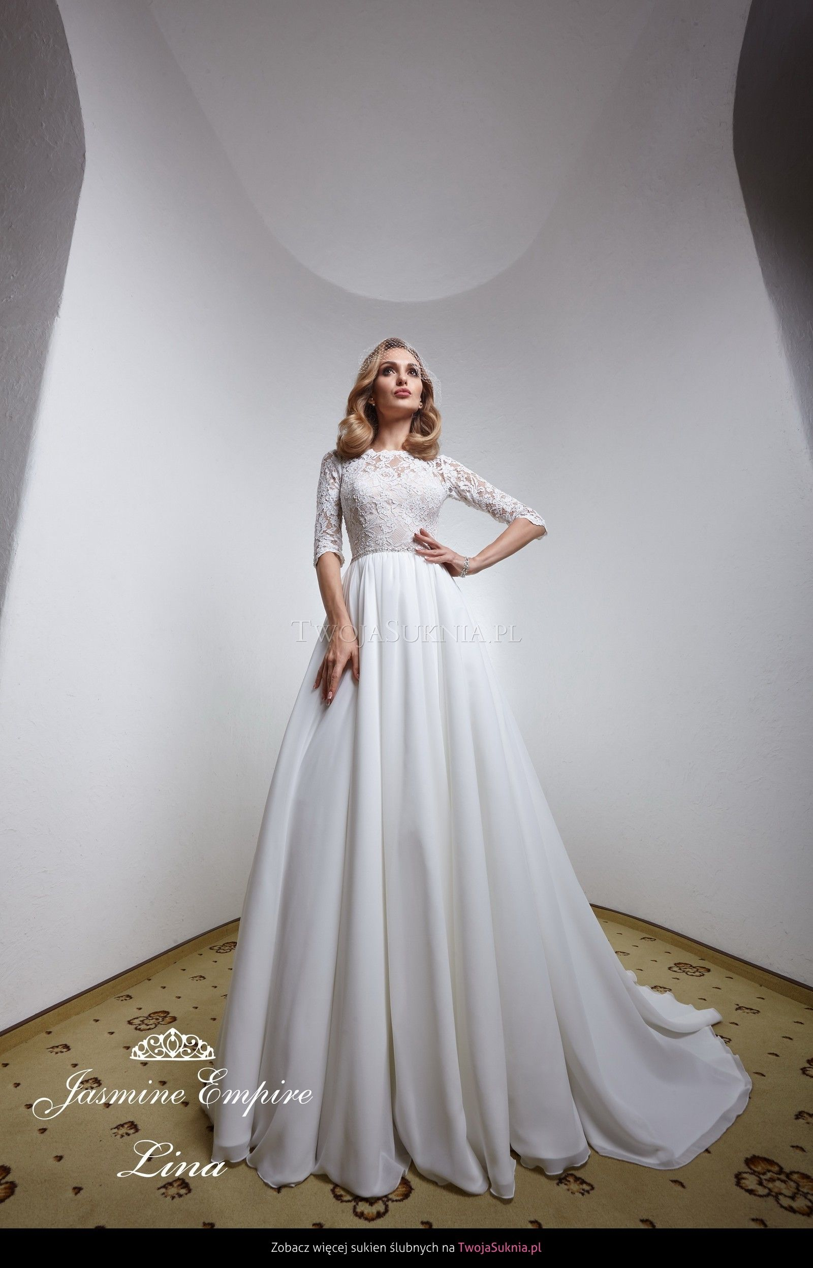 Jasmine Empire Lina Obsession Empire Wedding Dress Wedding Dresses Sleeveless Wedding Dress