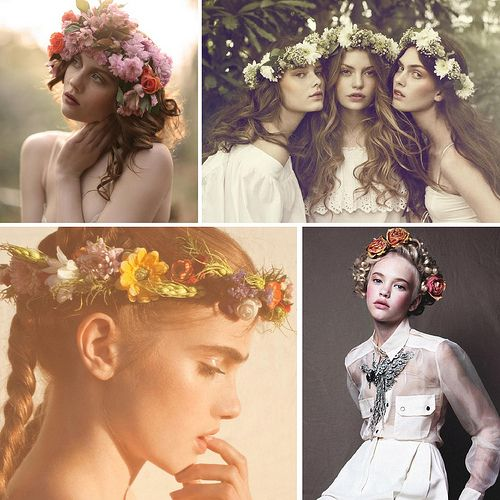 Crowns - made of special herbs and flowers;  used especially during the St. John`s Eve in old Poland, Ukraine, Belarus...
