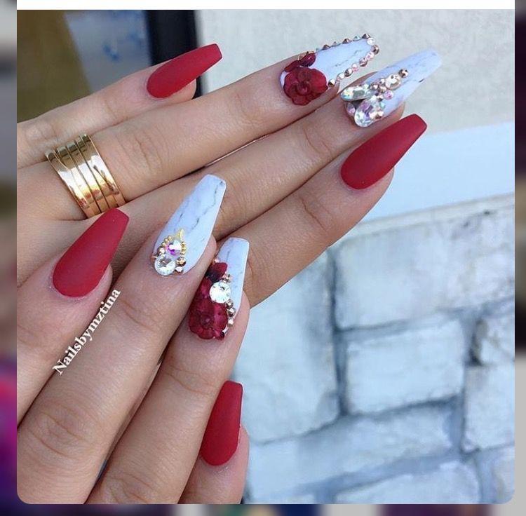 ⊱✰⊰Blessed: ⊱✰⊰ @xoxojamm✨ | nails | Red acrylic nails, Nail ...