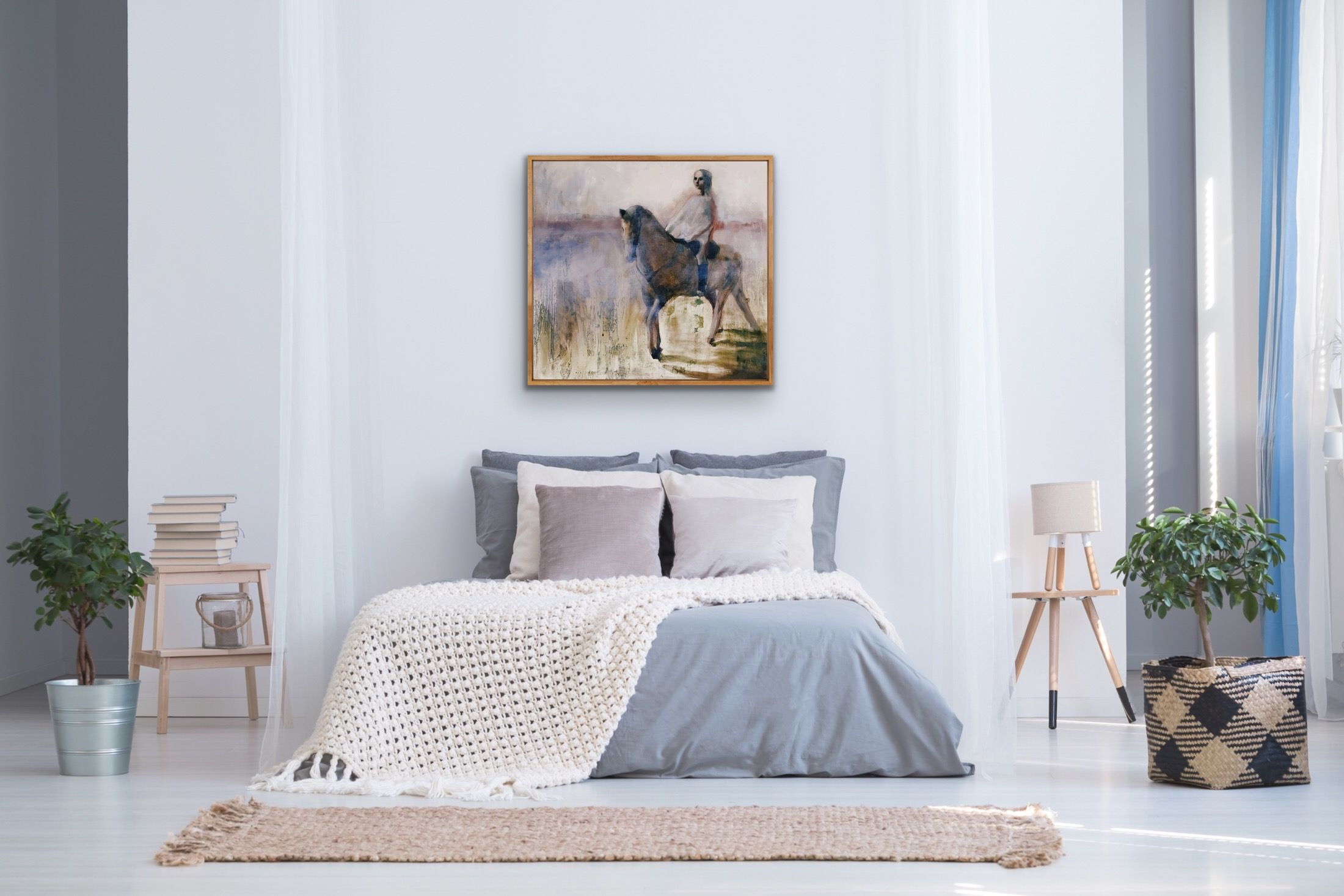 Dreamy Rider on Horse Image Print Home decor, Decor, Home