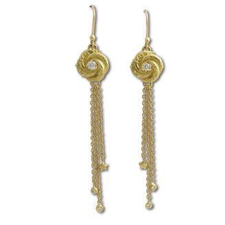 57932ceda Sophie Harley Algerian love knot earrings in 18ct yellow gold with  diamonds.18ct yellow gold.