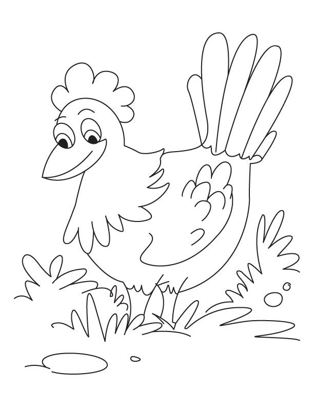 Me Pretty Hen Coloring Pages Download Free Me Pretty Hen