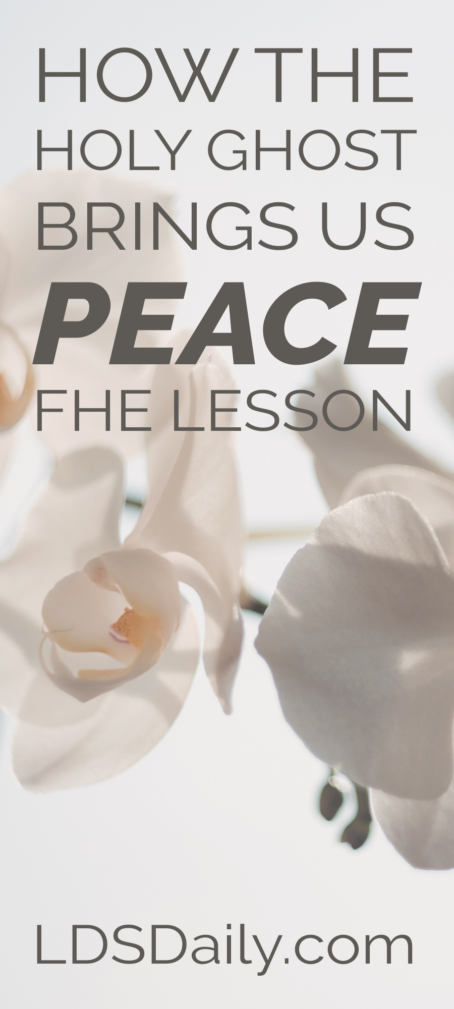 How the Holy Ghost Brings Us Peace FHE Lesson | This family home ...