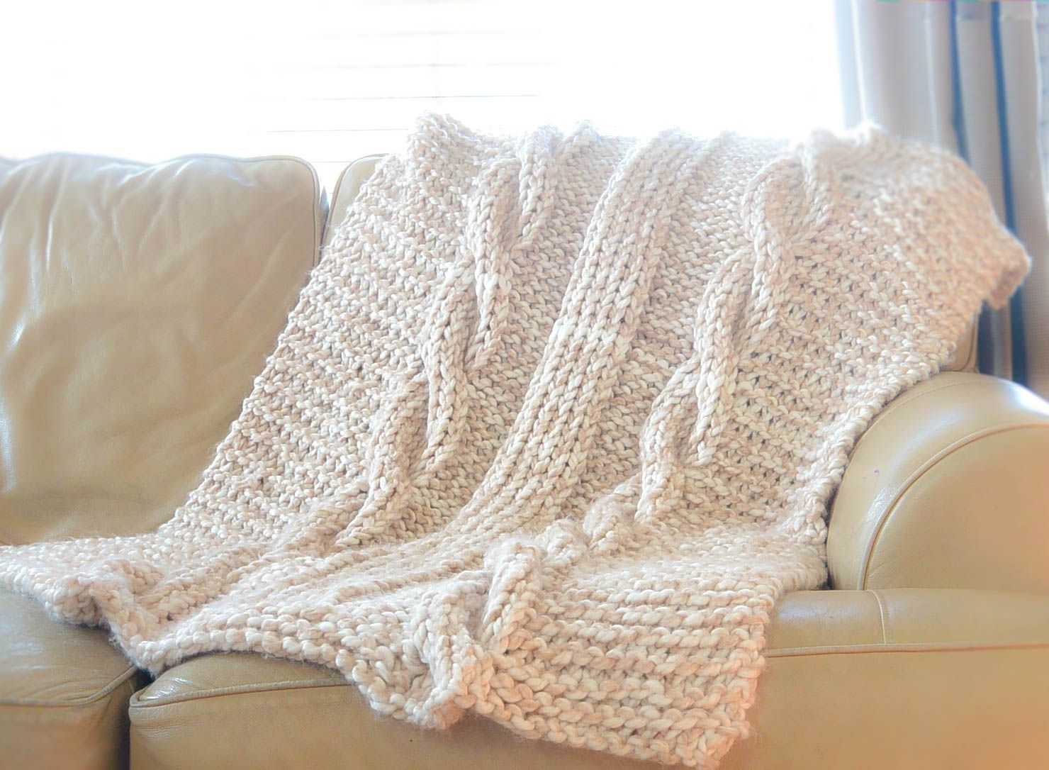 Endless Cables Chunky Knit Throw Pattern | Knitted afghans, Afghan ...