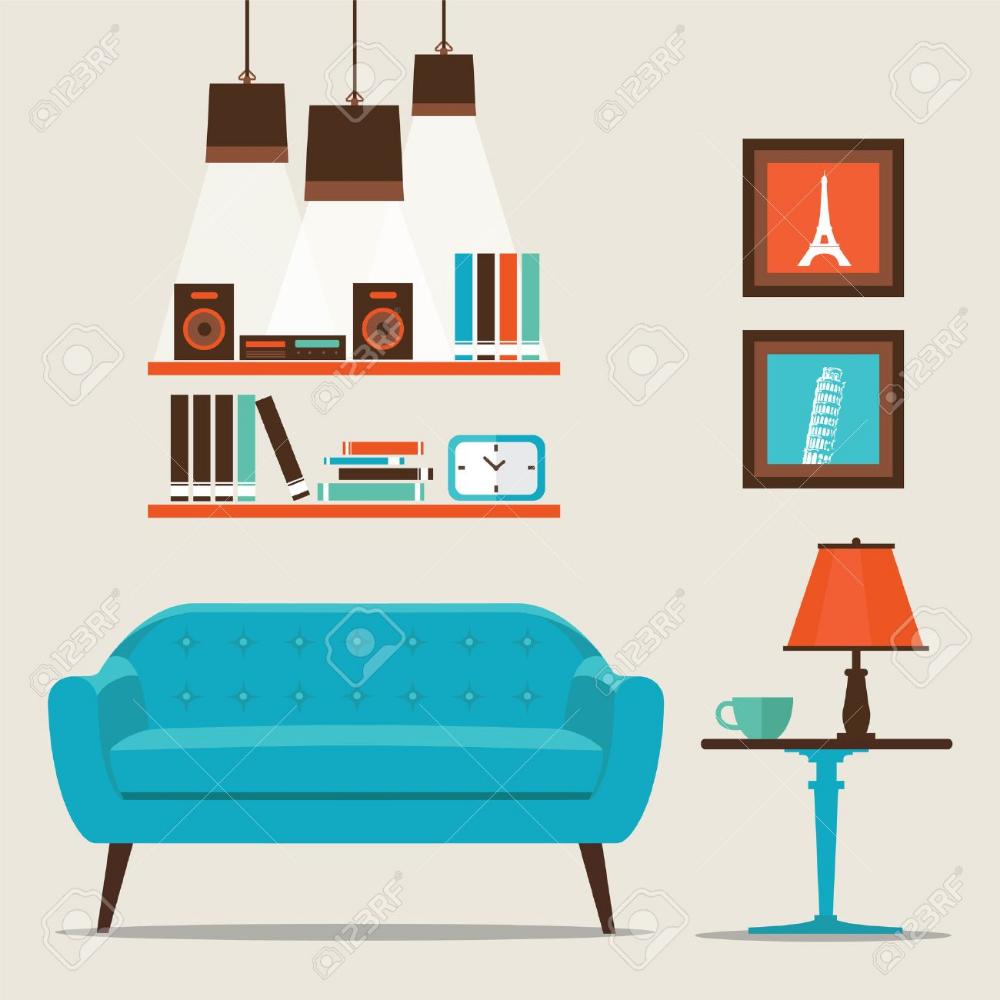 Living Room House Illustration Room Interior Illustration