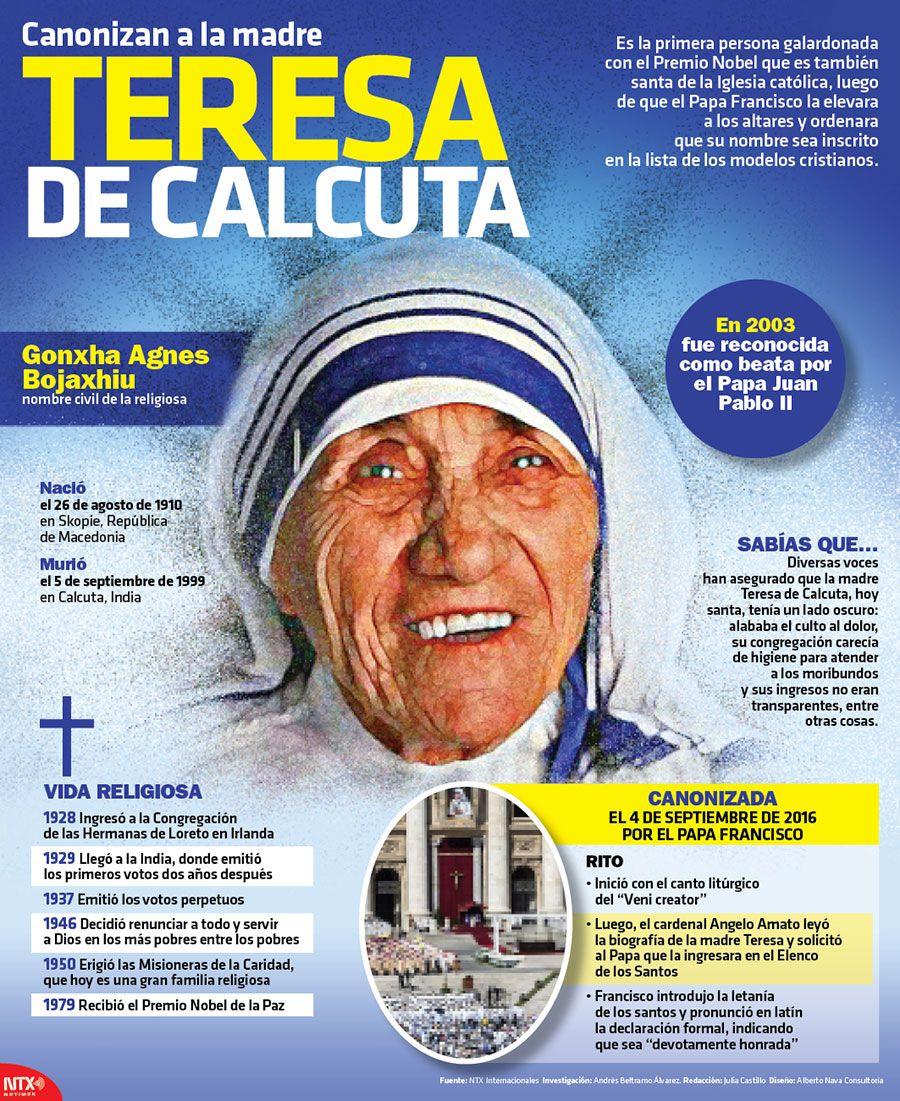 La Madre Teresa De Calcuta Fue Canonizada El 4 De Septiembre Te