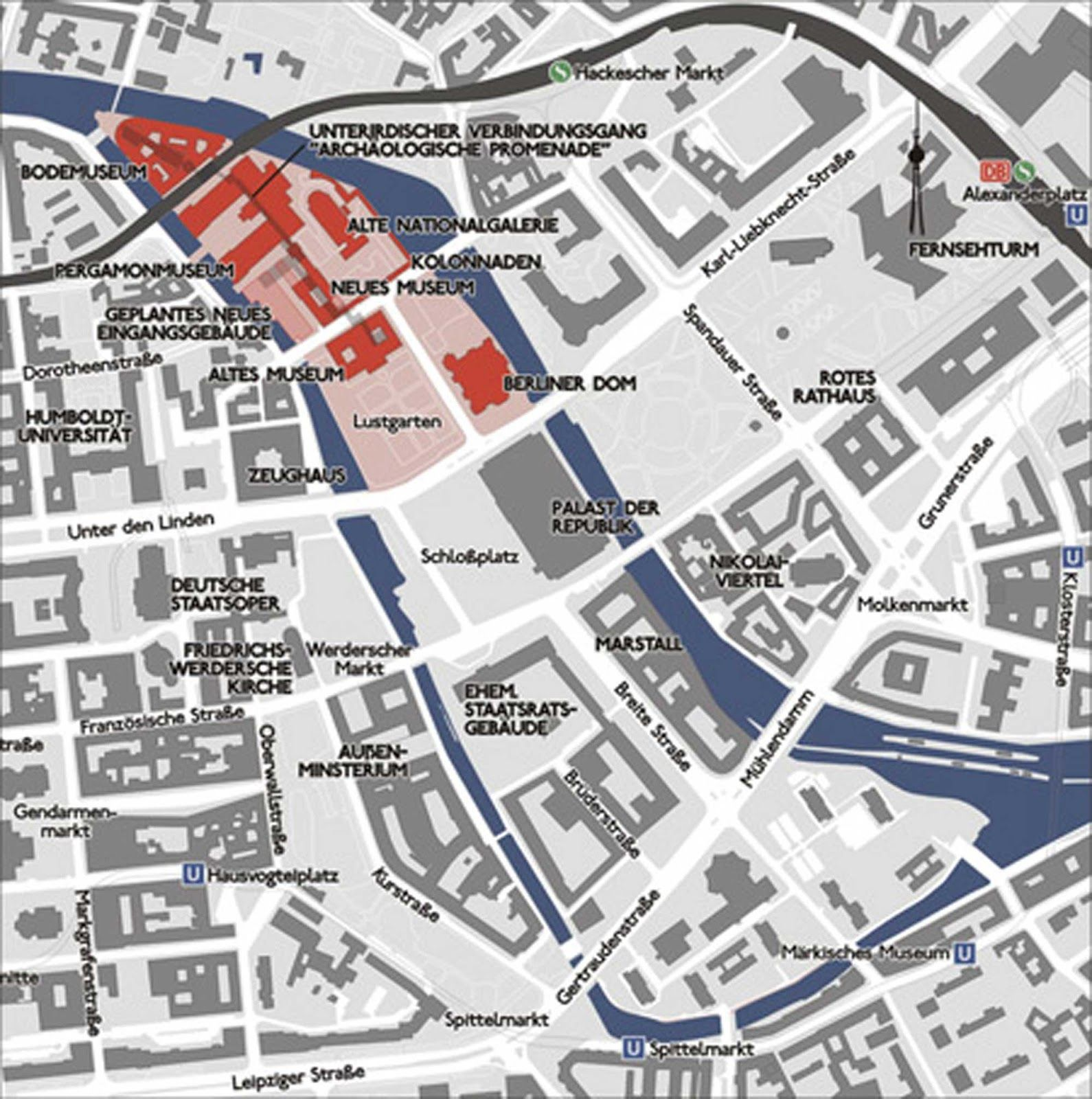 Map Of Berlin S Museum Island For Amy Museum Island Berlin City City