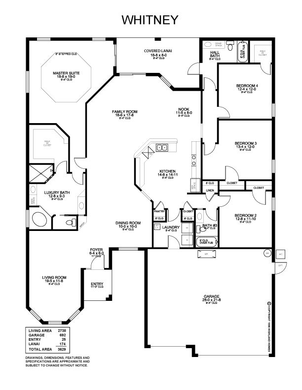 Whitney Floor Plan Highland Homes Building Plans House Floor Plans Highland Homes