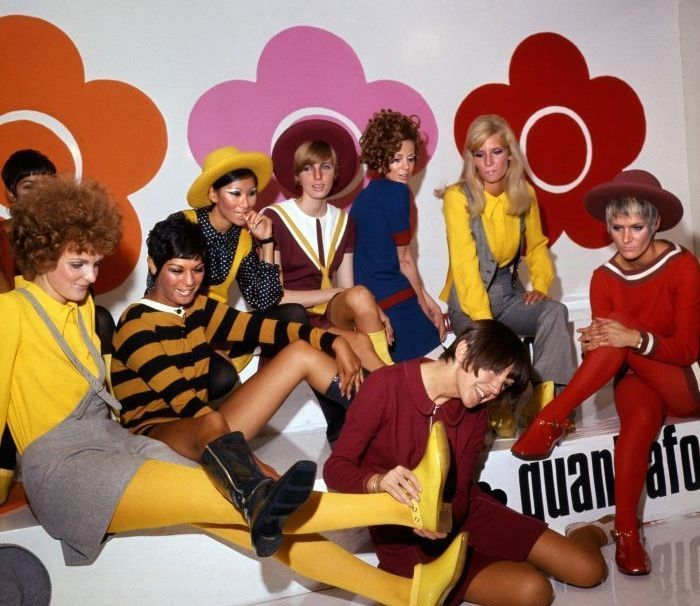 Mary Quant with some of her models