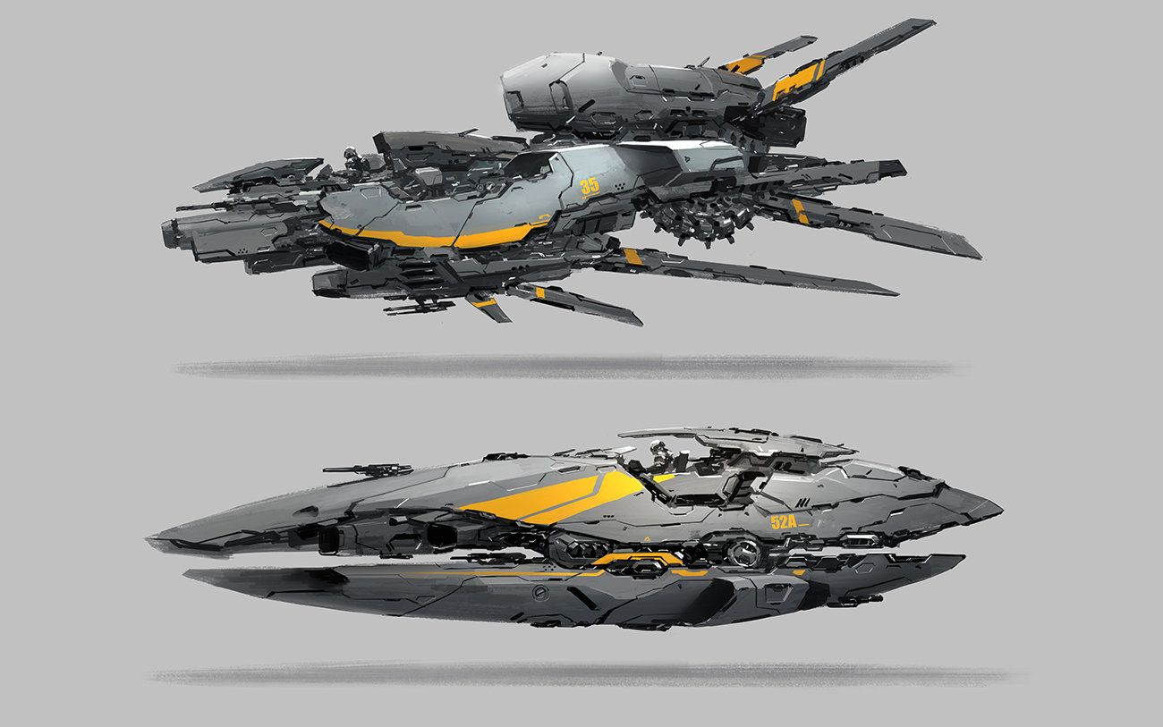 Pin by Chris Lee on !4-Space Ship Design Reference