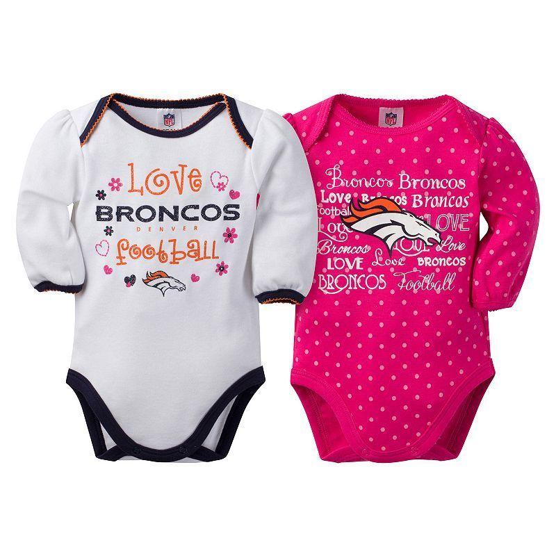 41b39af6 Baby Girl Denver Broncos 2-Pack Bodysuits, Size: 3-6 Months, Pink