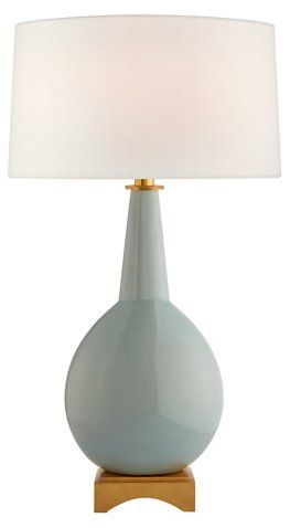 Octavia Blue Coral Painted Table Lamp Table Lamp Lamp Painted Table