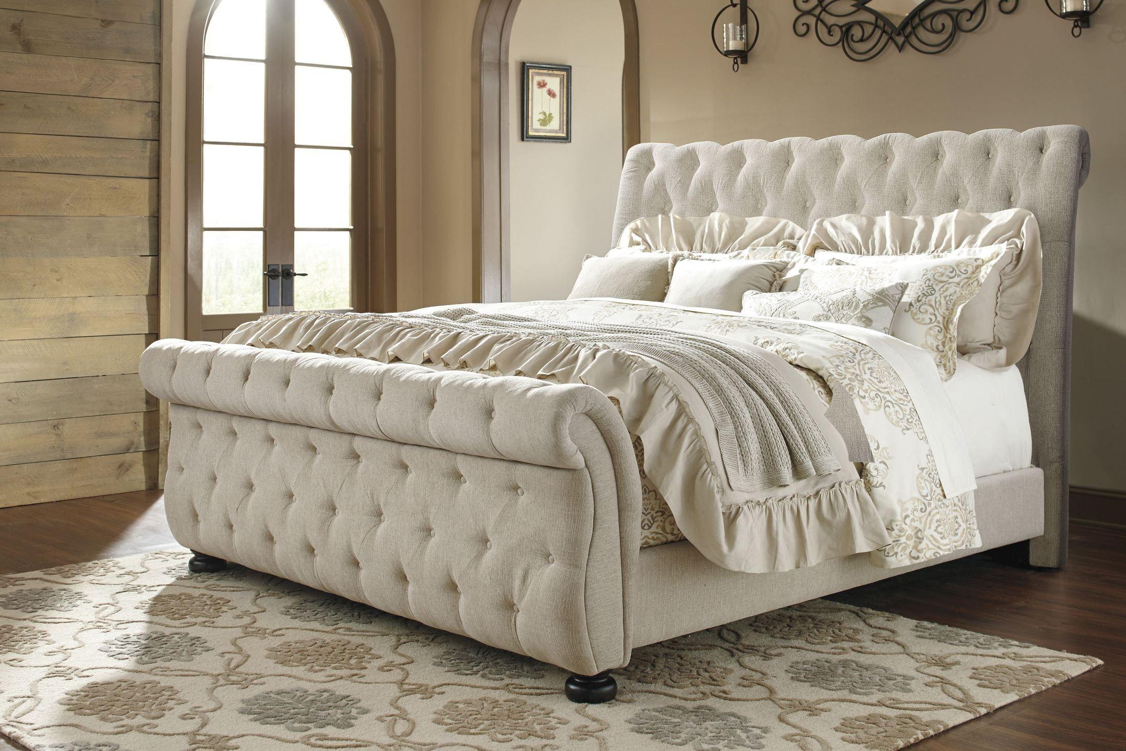 Willenburg Linen Cal King Upholstered Sleigh Bed King