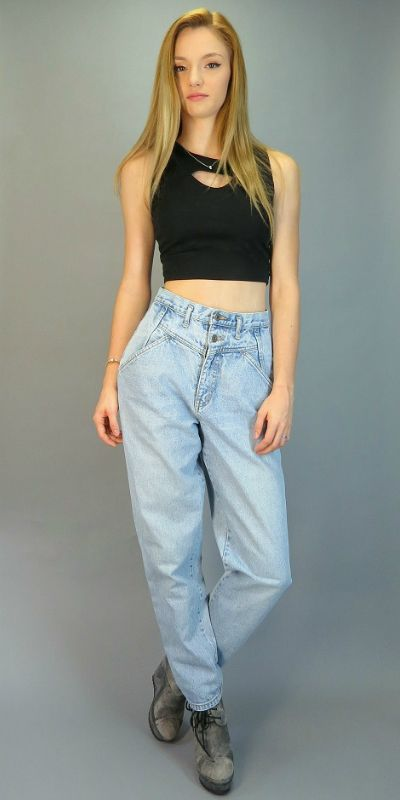 dbfe7f0ca9 Vintage 80s GAP High Waisted Jeans V Front Yoke Retro Light Wash Taper Leg  Ultra High Rise Mom Jeans Hipster Blue Denim Pants High Waist by ...
