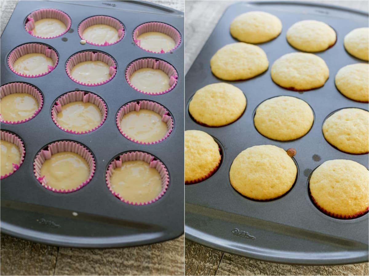 Easy Vanilla Cupcakes Changes I Made 1 4c Greek Yogurt 1 4 Cup Milk For The Buttermilk Vanilla Cupcake Recipe Cupcake Recipes Gluten Free Cupcakes Vanilla