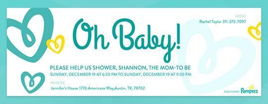Baby Hearts Invitation