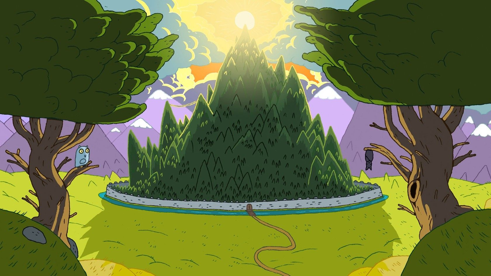 Cartoon Forest Adventure Time WallPaper HD - http ...