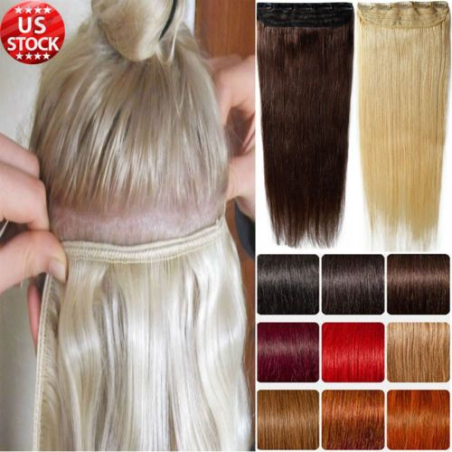 Women Fashion Clip In Remy Human Hair Extensions CLEARANCE Cheap Sale 1 Piece A7 | eBay