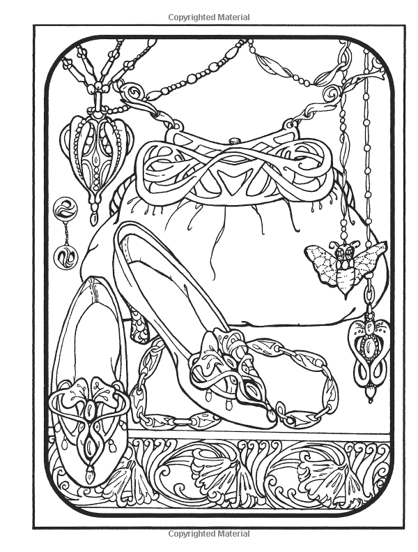 Amazon Creative Haven Art Nouveau Jewelry Designs Coloring Book 0800759812240
