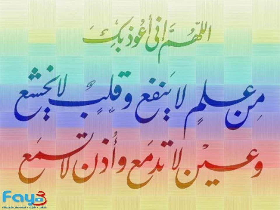 دعاء اللهم اني اعوذ بك من على لا ينفع وقلب لا يخشع Neon Signs Arabic Calligraphy Duaa Islam