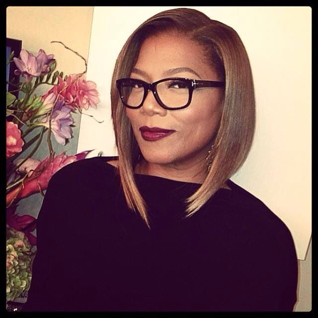Queen Latifah With Her Fab New Bob Or Should I Say Lob Long Bob