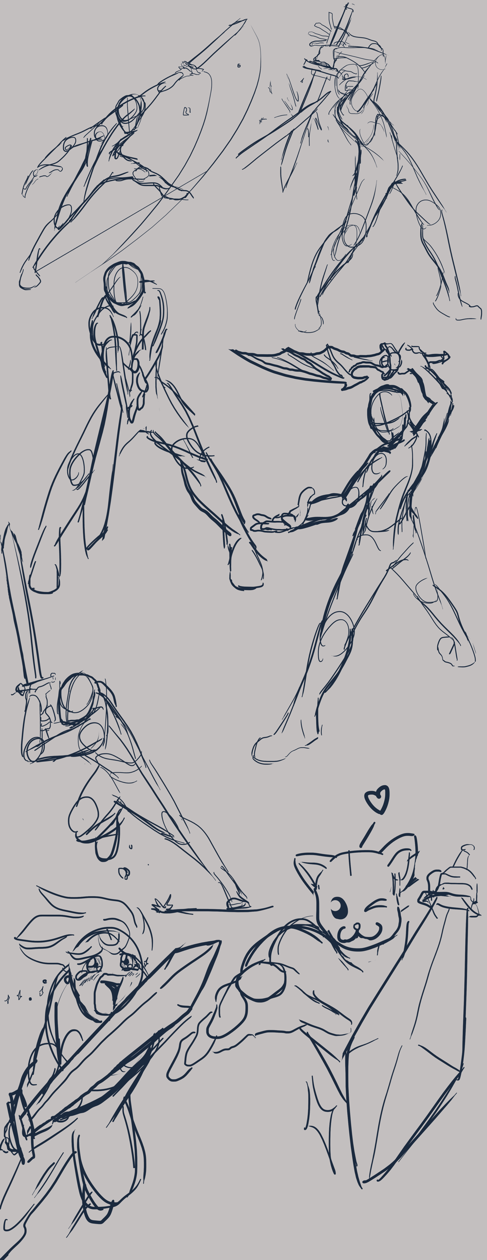 Dynamic Sword Poses Art Reference Poses Drawing Reference Poses Sketches