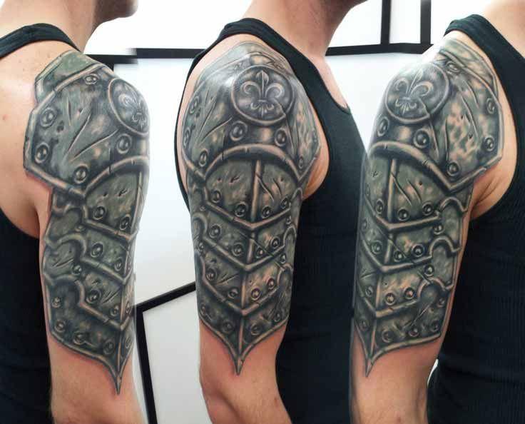 Cultural Tattoo Celtic Armor Sleeve Armour Tattoo Body Armor Tattoo Shoulder Armor Tattoo