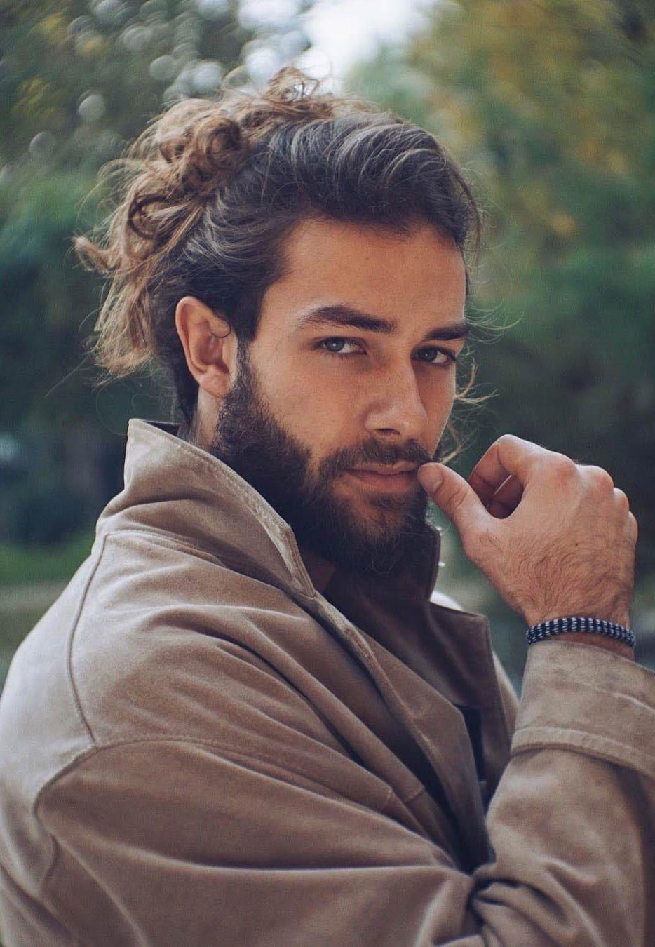 7 Types Of Man Bun Hairstyles Man Bun Hairstyles Long Hair