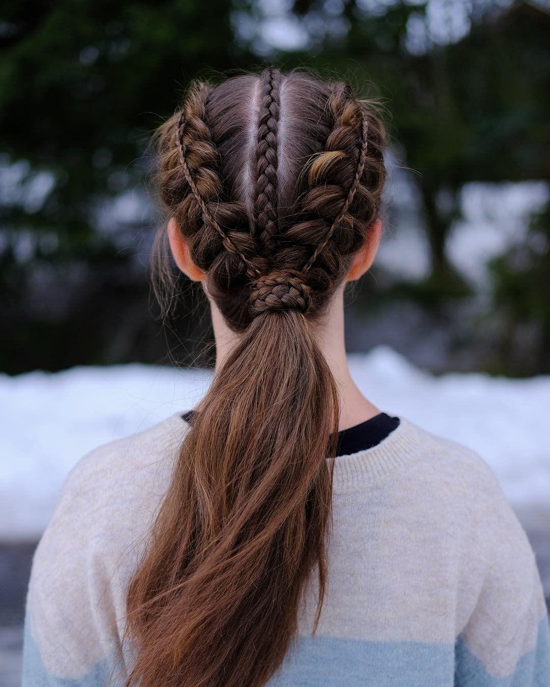follow me! ️💗 Braids, Hair styles, Hair