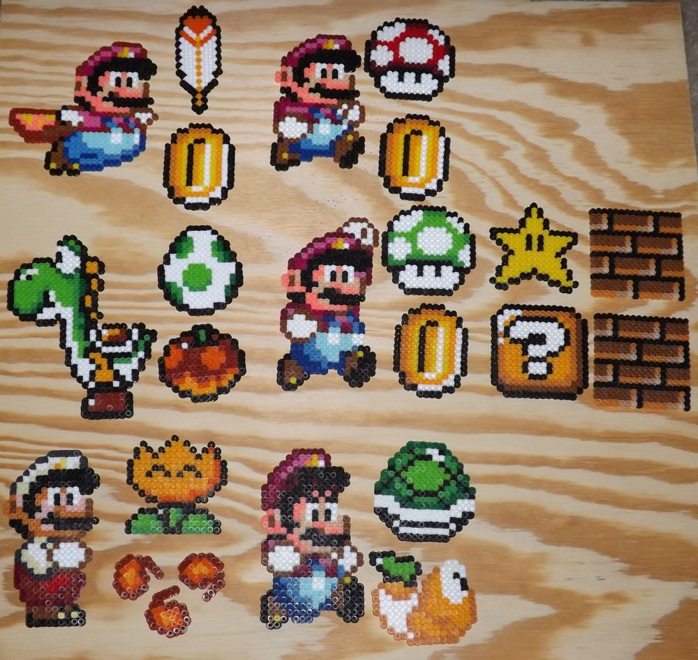 super mario world perler collection by diy pinterest. Black Bedroom Furniture Sets. Home Design Ideas