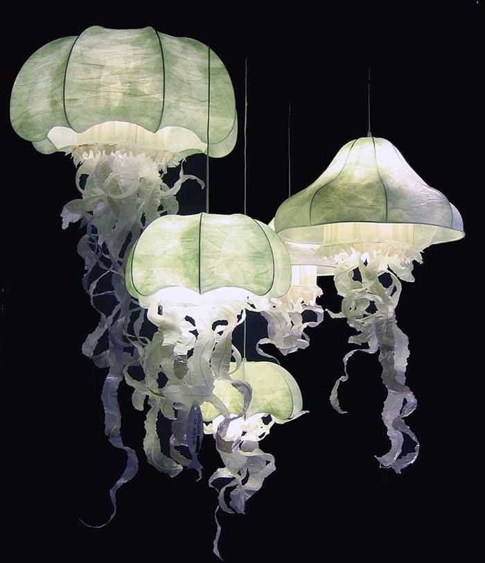 Jellyfish lamps by géraldine gonzalez