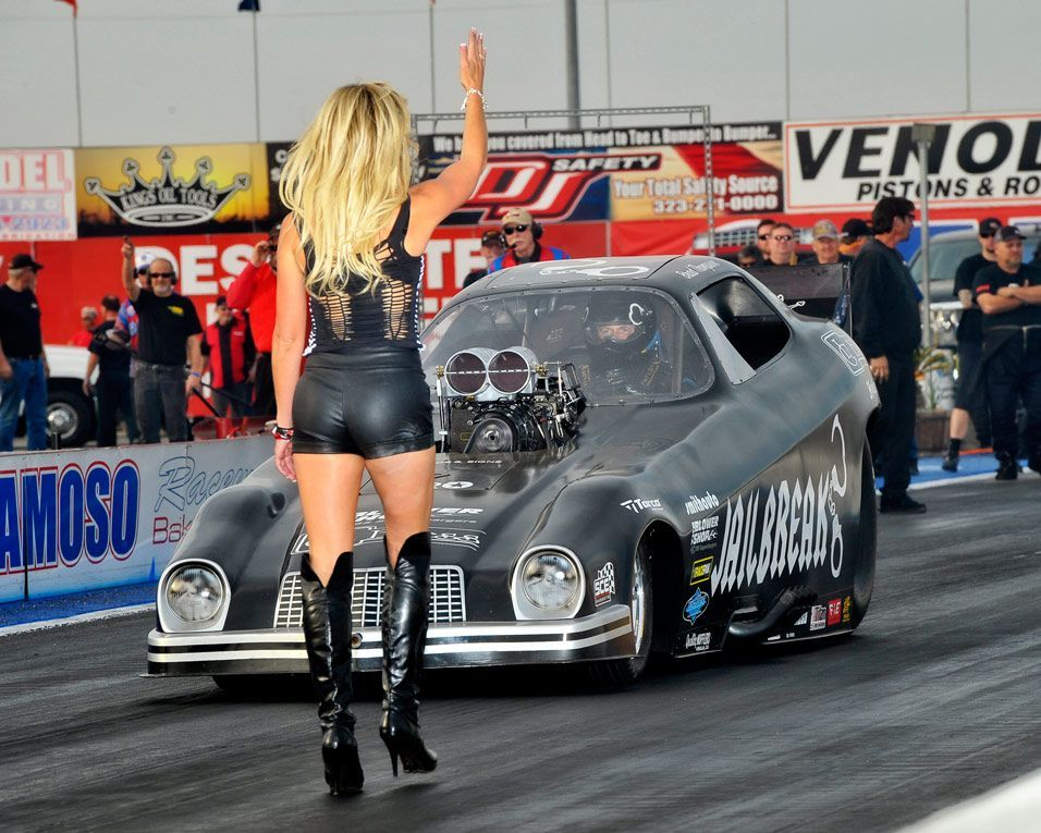 Drag Race Back Up Girls (Jungle Pam) | Hot Rods And Pin Ups