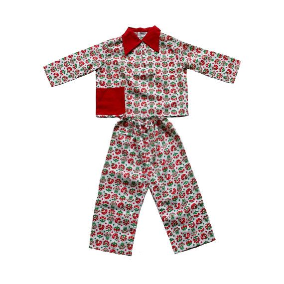 French Vintage 70 39 S Girl Pajamas Floral Print New Old Stock Size 2 Years Floral Pajamas Girls Pajamas Kids Outfits