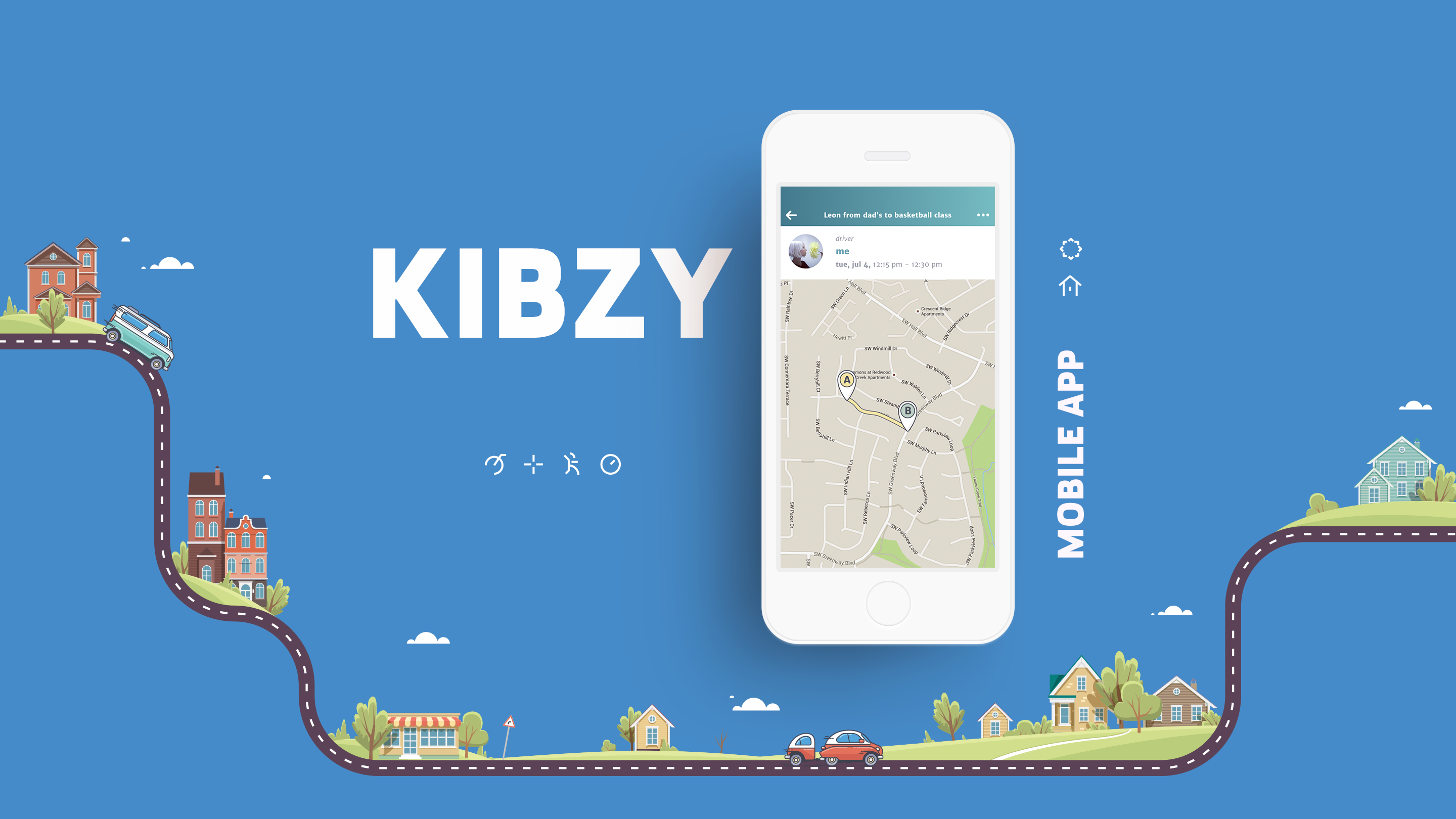Kibzy is a carpool application for kids and their parents