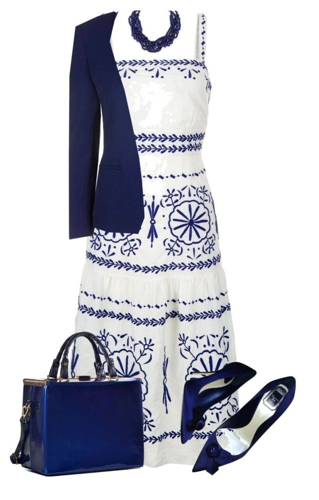"""""""Take the Dress to Work"""" by paperdollsq ❤ liked on Polyvore featuring Monsoon, Christian Dior, Dasein, Topshop and BaubleBar"""