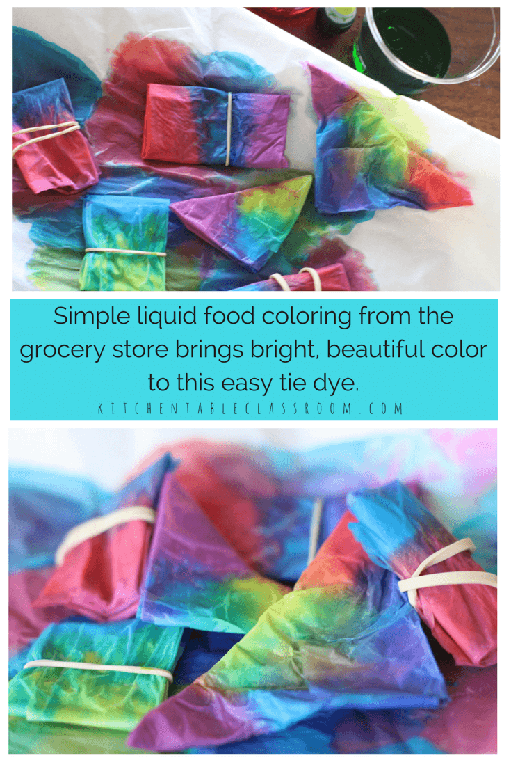 2b5227569f08 Tie is always a huge hit at our house but the mess...not so much. Try this  tissue paper dye using liquid food coloring. Beautiful colors and awesome  ...