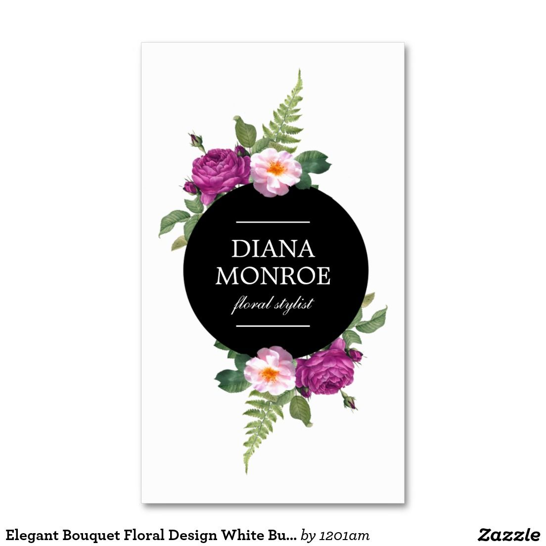 Designer Business Card Template for Florists, Flower Shops, Floral ...