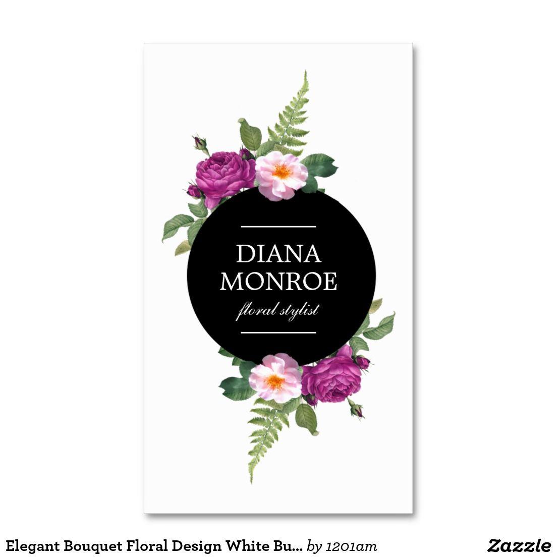 Designer Business Card Template for Florists, Flower Shops, Floral ...