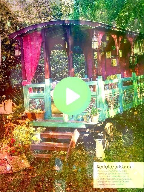 gypsy wagon What a nice garden retreat Charming Gypsy Caravan Sanary sur Mer Charming vacation rental Var Provence Alpes Côte dAzur French Riviera France A blog abo...