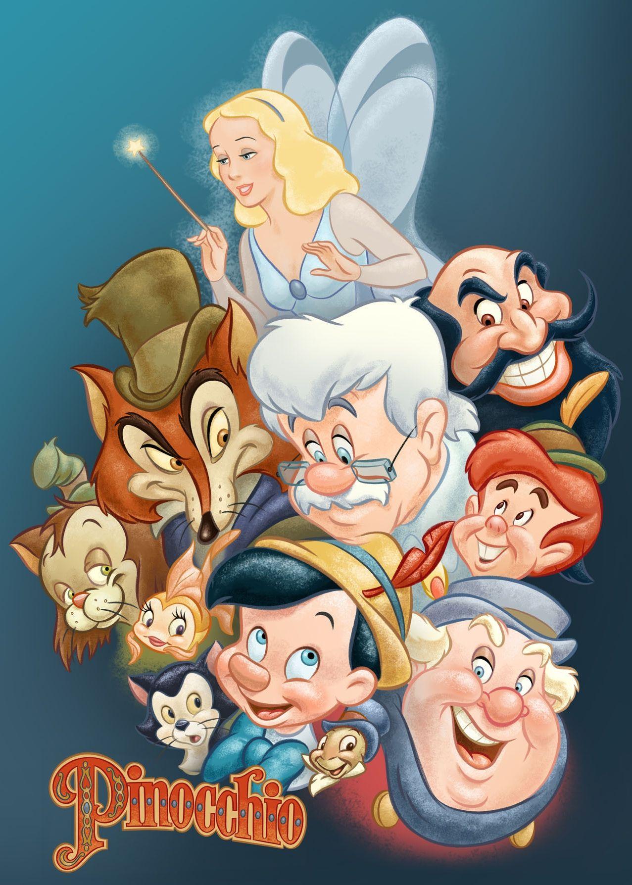 pinocchio by pedro astudillo | cartoon characters | pinterest