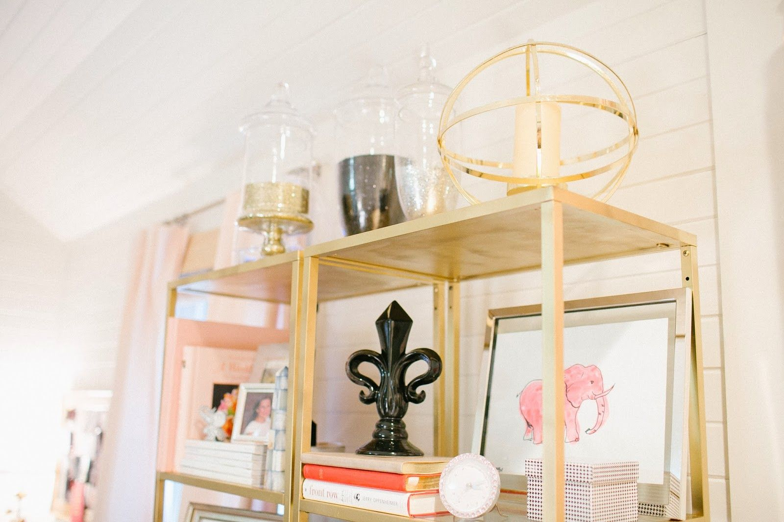 @Cat Cantrell || Perpetual Perfection featured our Atlas Pillar Holders in her gold-embellished nook.