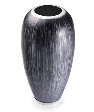 Fairtrade Recycled Aluminium High Gloss Vase Grey £32.00
